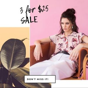 3 for $25 SALE!!!